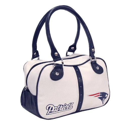 NFL Boston Patriots Ethel Pebble Handbag, White at Amazon.com