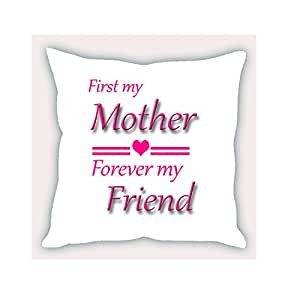 Clapcart Mother Designer Printed 12 X 12 Satin Cushion Cover- Colorful (CC172)