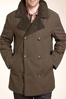 North Coast Waxed Cotton Pea Coat [T16-2137N-S]
