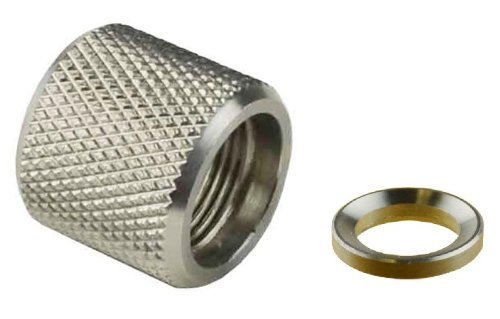 Ultimate Arms Gear AR15 AR AR-15 M4 M16 .223 5.56 Rifle Stainless Steel 1/2x28 TPI Pitch Thread Protector Cap For .750 Standard Barrel + Included Crush Washer (Ar15 Flash Hider Stainless Steel compare prices)