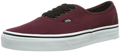 Vans Authentic Sneaker, Unisex Adulto, Rosso (port royale/black), 39