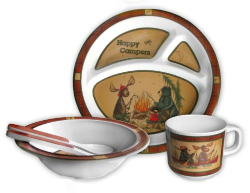 Motorhead Products Happy Campers Dish Set, 5-Piece