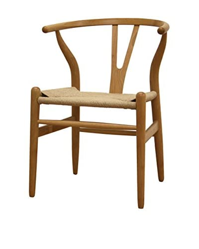 Baxton Studio Claus Wood Chair, Natural