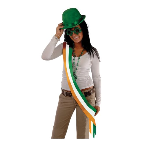 Beistle 60535 Irish Satin Sash, 33-Inch by 4-Inch