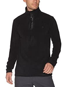 Protest Perfect 12 1/4 Zip Top Polaire homme True Black FR : L (Taille Fabricant : L)