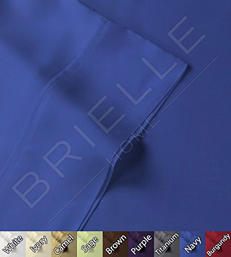 Best Price! Brielle 100-Percent Rayon Bamboo Sheet Set, Twin/X-Large, Navy