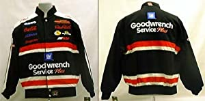 Dale Earnhardt Heavy Brushed All Cotton Twill Uniform Replica Jacket with Leather... by JH Design Group
