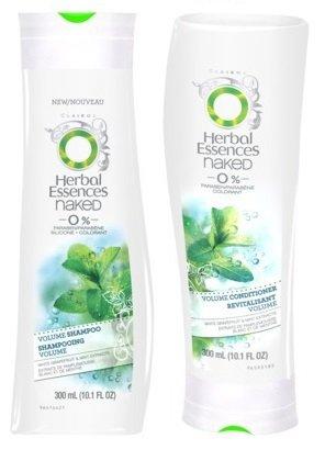 Herbal Essences Naked - 0% Paraben - Volume Shampoo & Conditioner - Net Wt. 10.1 Fl Oz (300 Ml) Each - One Set