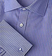 "2"" Longer Ultimate Non-Iron Pure Cotton Sateen Striped Shirt"