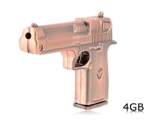 cmeeos-Pistolet en forme de 4Go USB Flash Drive (cuivre)