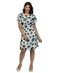 Surat Tex White Color Printed Georgette Stitched Dress-I219DS112L