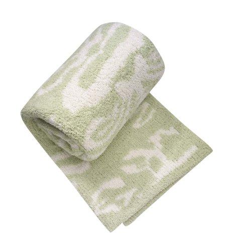 "Kahswere Baby Blanket Damask, 33"" x 40"" (Green Apple)"