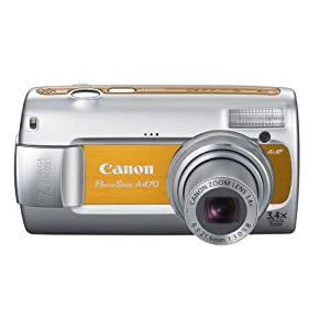 Canon PowerShot A470 7.1 MP Digital Camera with 3.4x Optical Zoom (Orange)