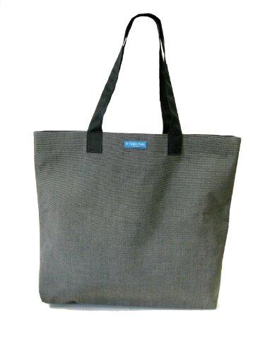TESAGE Yukiko Sato New York, SB1 SUN CharcoChino (sunbrella), foldable oversized bucket tote fabric bags