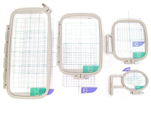 4-Piece Embroidery Hoop Set - Replaces Sa442 Sa443 Sa444 Sa445 - Hoops For Brother Machines Pe-770 700 700Ii 750D 780D Innov-Is 1000 1200 1250D - Babylock Ellure Ellure Plus Emore - Four Piece Replacement Set front-1060936