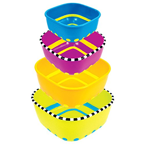 Sassy 4 Piece Stack N' Serve Bowl Set (Sassy Bowl Set compare prices)