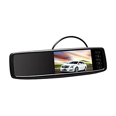 AUTO-VOX 4.3 inch Wireless Rear View Mirror Night Vision Waterproof HD Wide Angle Backup Camera