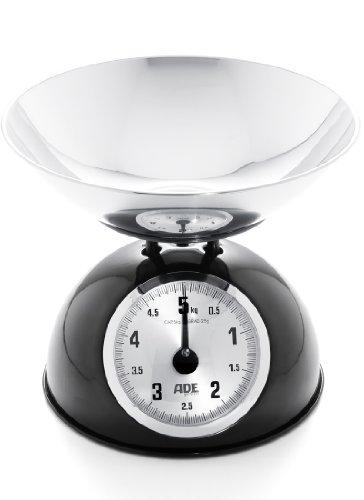 ADE kM luisa-balance de cuisine mécanique, Acier inoxydable, noir