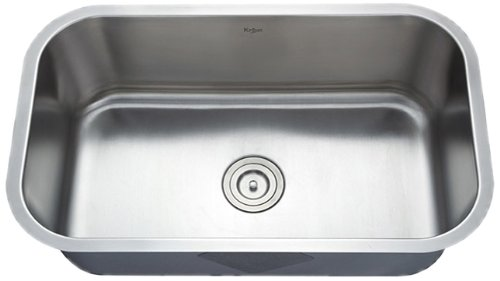 Check Out This Kraus KBU14 30-Inch Undermount Single Bowl 16 gauge Kitchen Sink, Stainless Steel