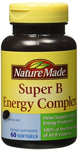 Nature Made Super B Complex Full Strength Softgel, 60 Count (Packaging may vary) (Nature Made Mega compare prices)