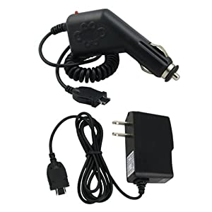 CELL PHONE CAR+WALL CHARGER FOR PANTECH AT&T C530 SLATE