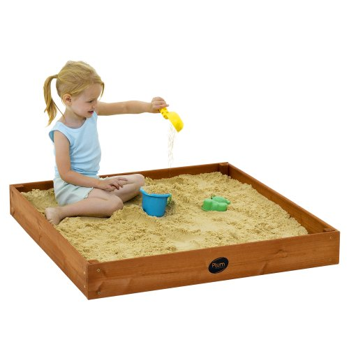 Plum Junior Outdoor Play Wooden Sand Pit (Cedar red)