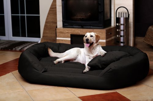 tierlando® S5-03 SAMMY Extra ROBUST Hundesofa Hundebett Gr. XXL 140cm Schwarz