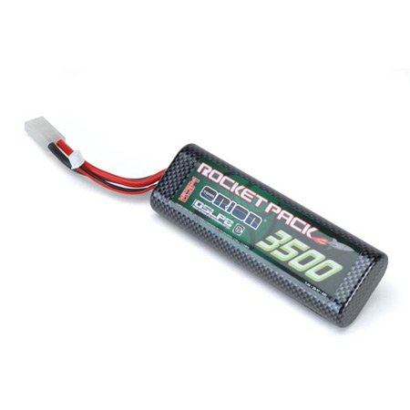 7.4V 3500mAh 25C LiPo Rocket Pack w/TAM Plug, Flat