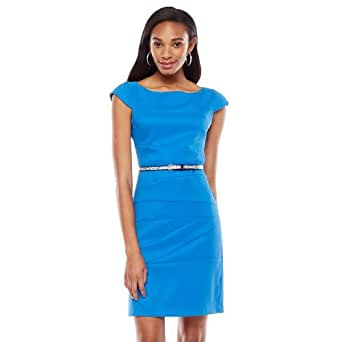 ab studio solid pieced sheath dress women 39 s at amazon