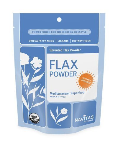New Navitas Naturals Flax Seed Sprouted Powder 8-Ounce Pouches (Pack Of 3)