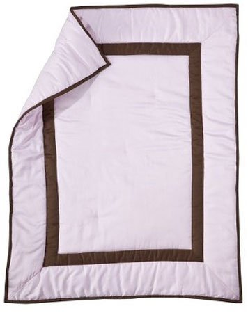 Luxe Baby Crib Comforter - Soft Pink - 1