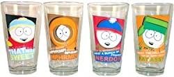 South Park 4pk Television Characters Beer Soda Pint Glasses