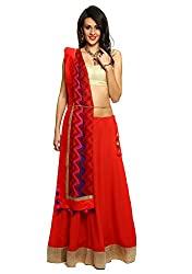 9Rasa Faux Georgette Embellished Lehanga Set with Unstitched Blouse