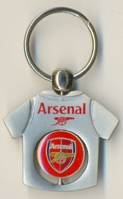 Arsenal FC Official Metal T-Shirt Spinning Keyring