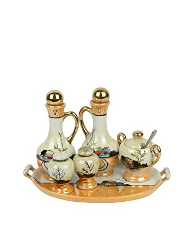Uptown Down Previously Owned 6-Piece Japanese Porcelain Condiment Set