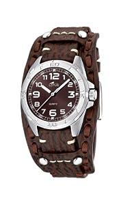 Lotus 15686/3 - Reloj analógico infantil de cuarzo con correa de piel marrón - sumergible a 50 metros