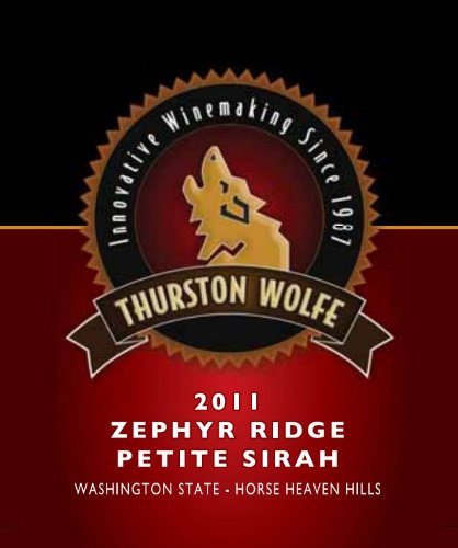 2011 Thurston Wolfe Zephyr Ridge Vineyard Petite Sirah 750 Ml