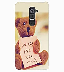 ColourCraft Cute Teddy with Quote Design Back Case Cover for LG G2