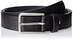 Parx Men's Leather Belt (8907116665661_90_Black)