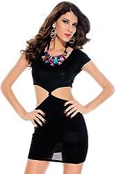Qurves Black Waist Cutout Dress