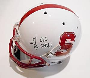 Ty Montgomery Signed Stanford Cardinals Full Size Football Helmet w COA - Autographed... by Sports+Memorabilia