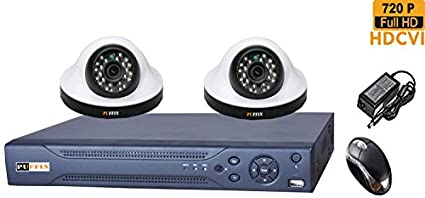 Puffin-4-CH-HDCVI-Dvr-(With-2-HD-720P-Night-Vision-Dome-Cameras)