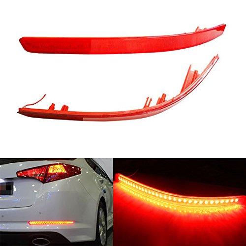 Ijdmtoy Brilliant Red 40-Smd Led Bumper Reflector Marker Lights For 2011 2012 2013 Kia Optima K5 As Rear Fog Or Brake/Tail Lights