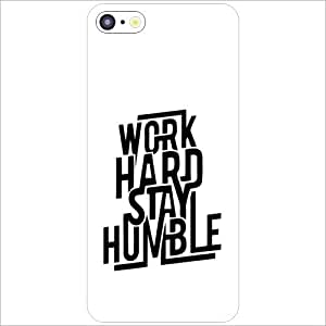 Apple iPhone 5C - Lazer Print Work Hard Designer Cases