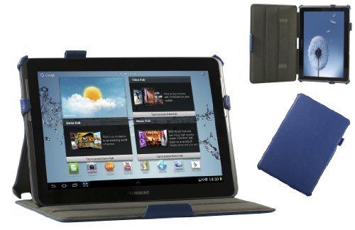 Adento Galaxy Tab 2 10.1 Hülle (blau) - Smart Cover, Aufsteller, Handschlaufe, Stylus-Halterung