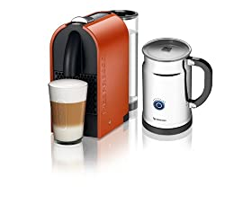 Nespresso A+D50-US-OR-NE Espresso Maker with Aeroccino Milk Frother, Pure Orange by Nespresso