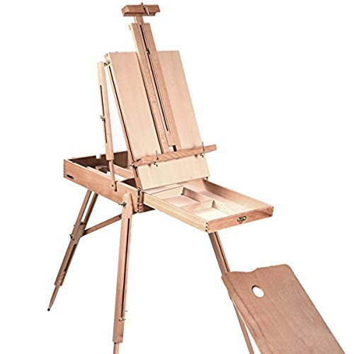 Portable French Style Wooden Art Easel (up to 34-inches canvas) (Art Easel Stand compare prices)