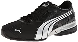 PUMA Men's Tazon 5 Cross-Training Shoe,Black/Puma Silver/Black,12 M US