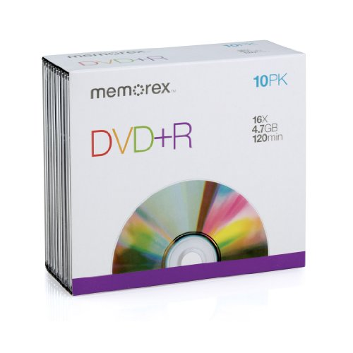 Memorex – 10 x DVD+R – 4.7 GB – storage media