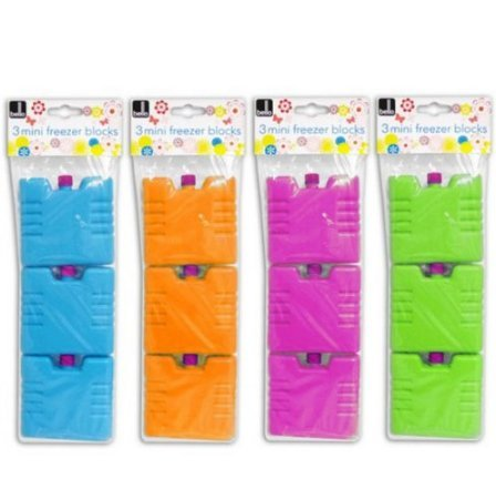 Set 3 Piccoli Blocchetti Da Congelare Colore Arancione Verde o Blu